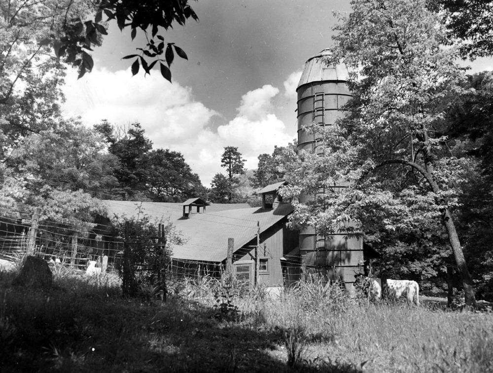 Barn with silo. [Photo by Arthur Dodd]