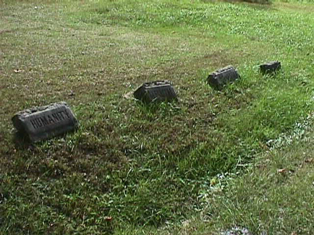 Stones  from porch of Burkham School House. Pine Mountain Settlement School.