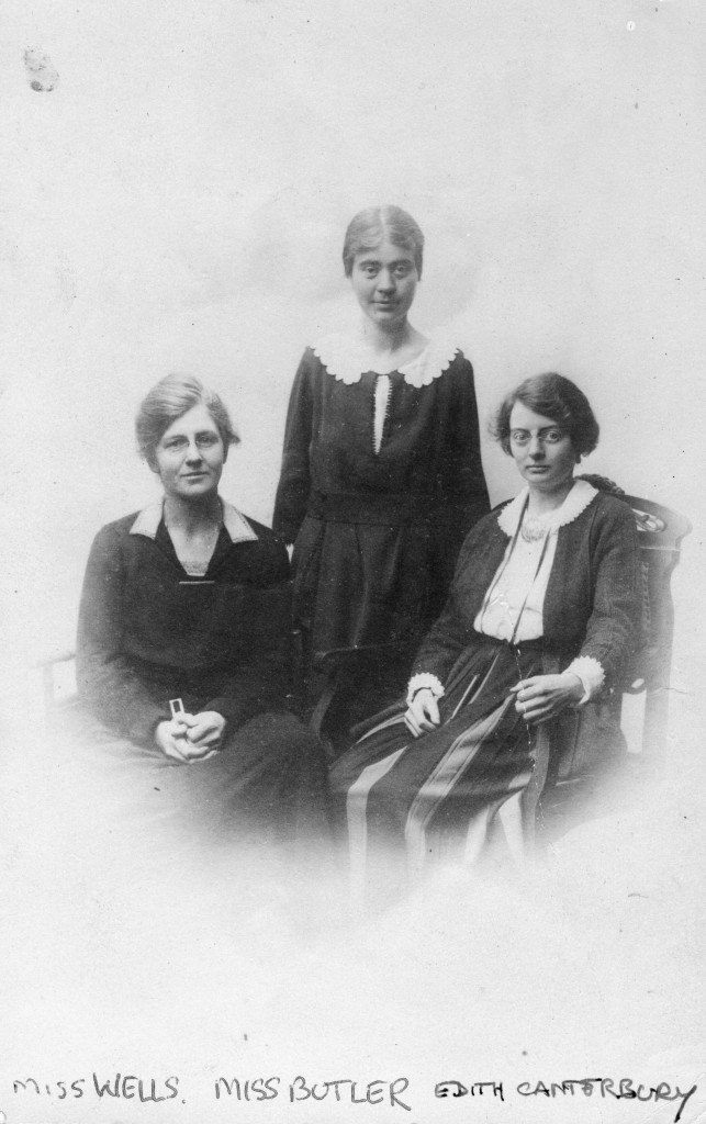 (left to right) Evelyn K. Wells, Marguerite Butler, Edith Canterbury
