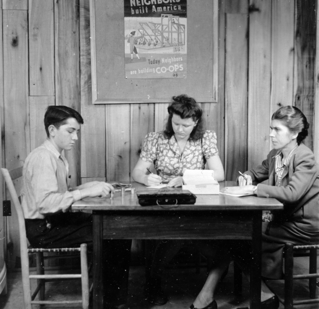 Gladys Hill (right) with co-op students. (Source: Harmon Fdn stills)
