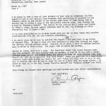 Angela Melville Correspondence