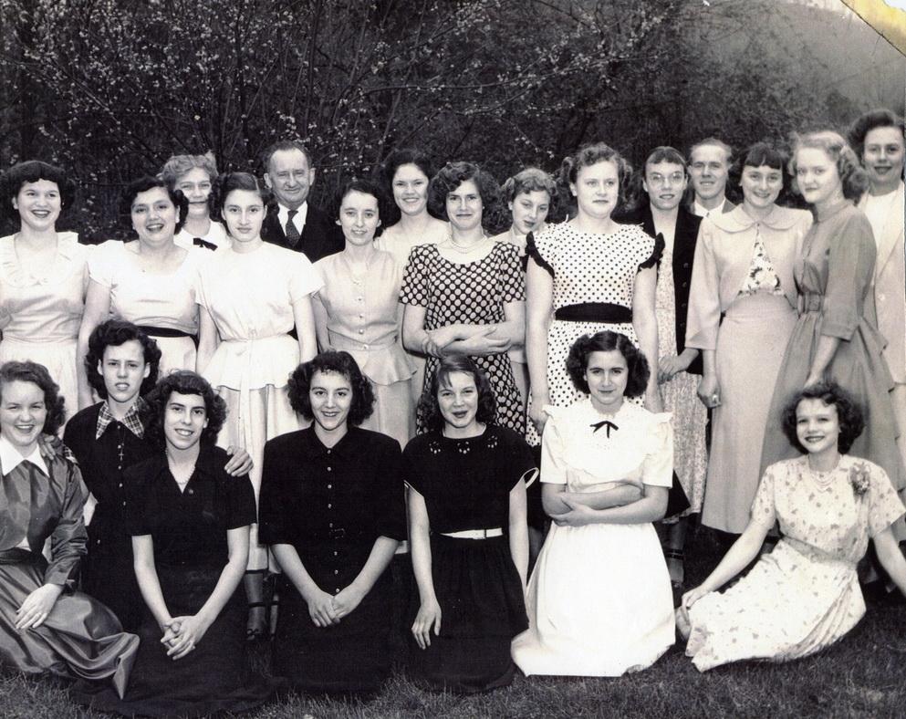Joe Bramlett Album - Students and faculty, 1945-46 (?) (Photo by Arthur Dodd)