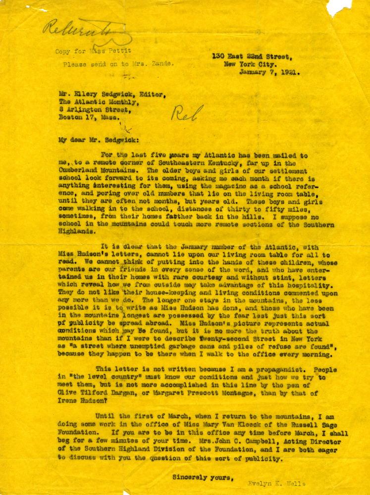 Wells Letter