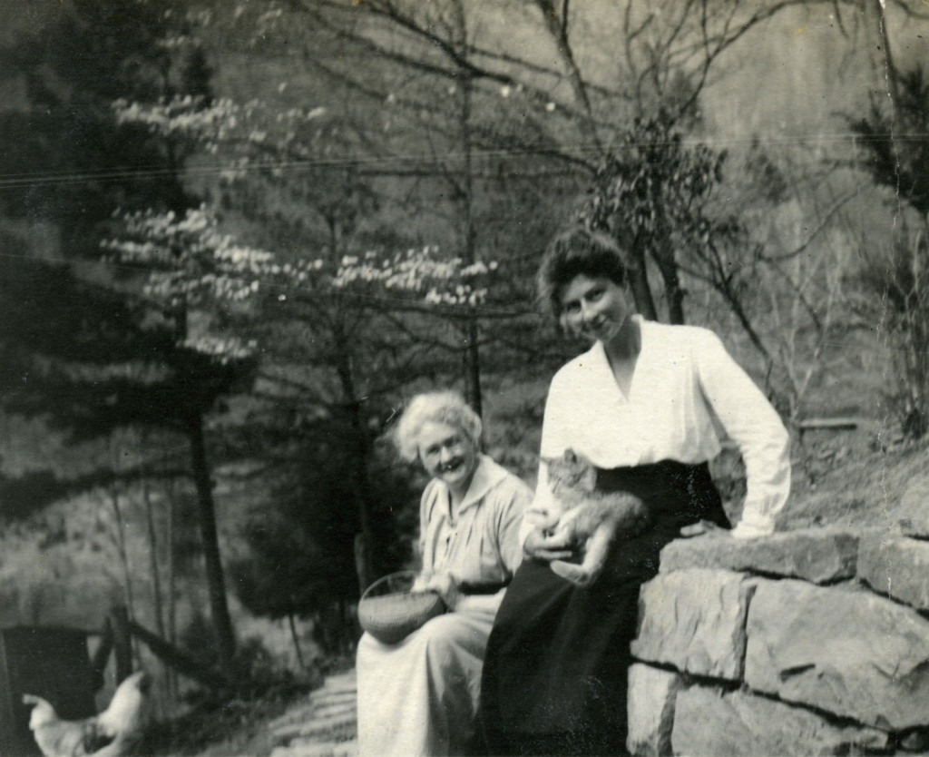 Harriet Butler, nurse and Dr. Grace Huse with cat. X_099_workers_2497b_mod.jpg