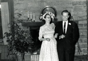 Margaret Nace and Robert Starbucks at their wedding. Laurel House, living room. [X_100_workers_2595_mod.jpg]