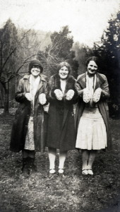 Marian Kingman (left) and friends show off their mittens. X_100_workers_2638_mod.jpg