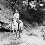 Photo of Purbrick on horseback