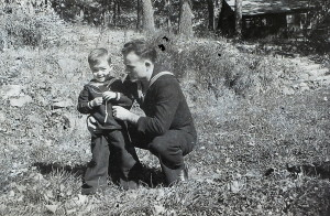 Paul Hayes with his nephew, Stephen Hayes. Source: Hayes Album [hay_IMAG0245_mod.jpg]