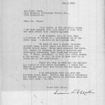 DARWIN D. MARTIN 1928 Correspondence