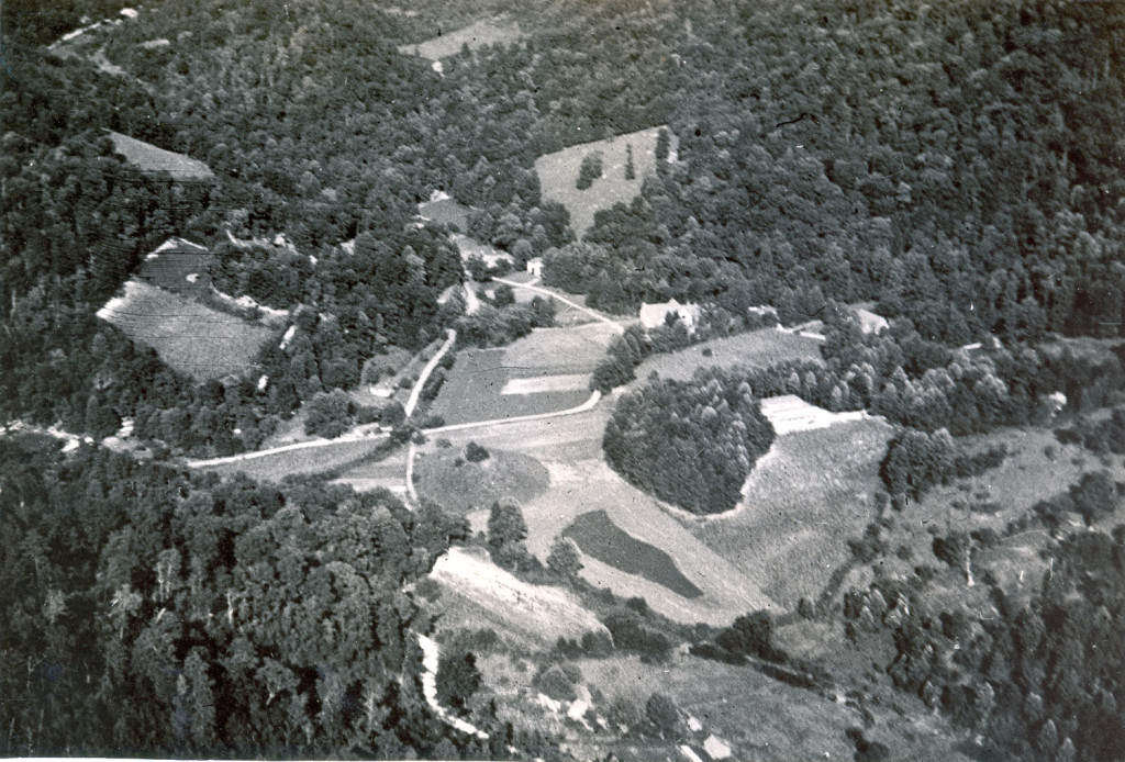 Aerial view of campus. Arthur Dodd photograph