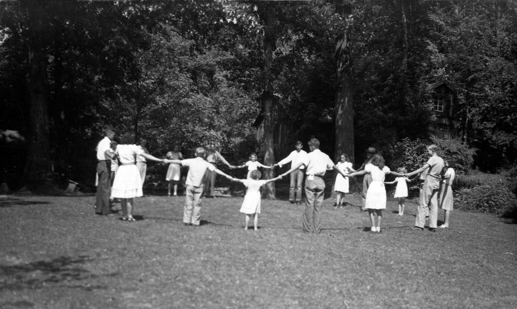 Line Fork community, dancing during the Baker years, early 1940's. [line_fork_005c]