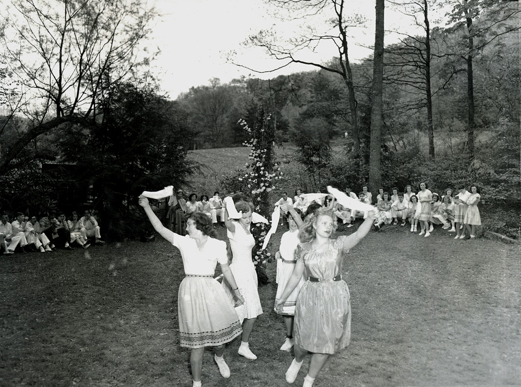 """Glorishears"" Morris Dance -- 1946. Shirley Holbrook and Delores Scott in lead. nace_1_021a.jpg"