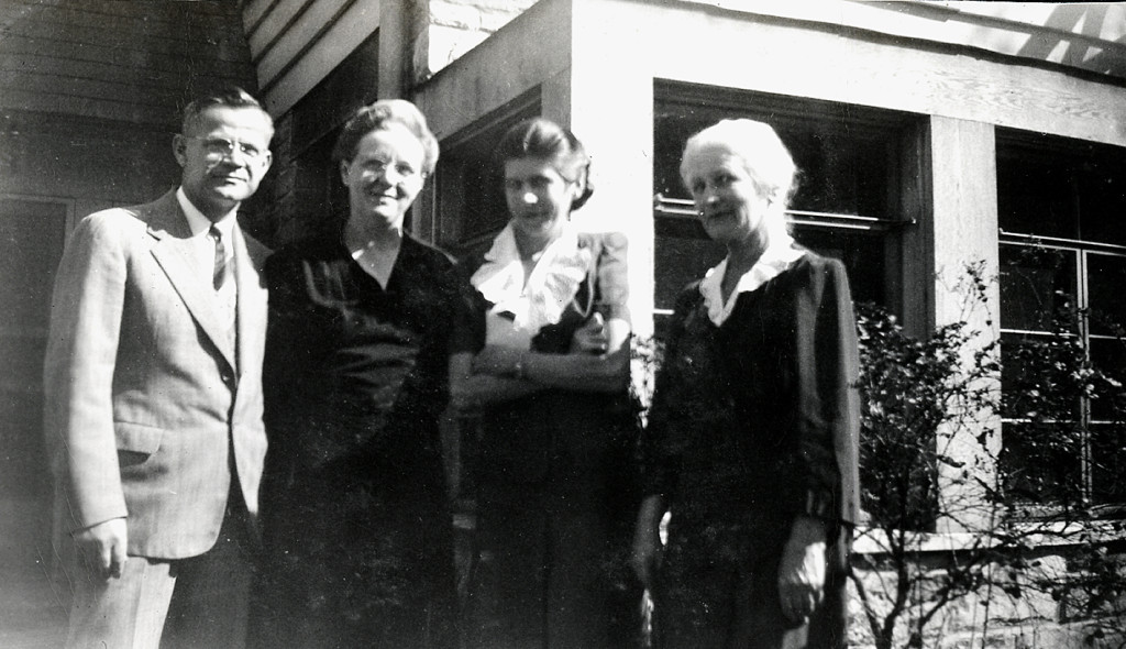 Mr. and Mrs. LaRue, Miss Hill, Miss Goodnow. October, 1946. [nace_1_035a.jpg]