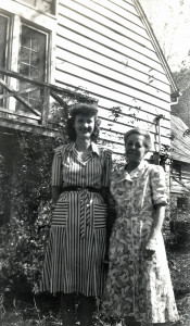 Georgia (Ayers) Dodd [left] with Miss Edith Cold, October 1946. [nace_1_036a.jpg]