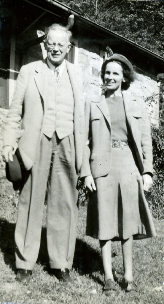 Alice Barry and her father, Samuel Scoville, 1948. [nace_1_058c.jpg]