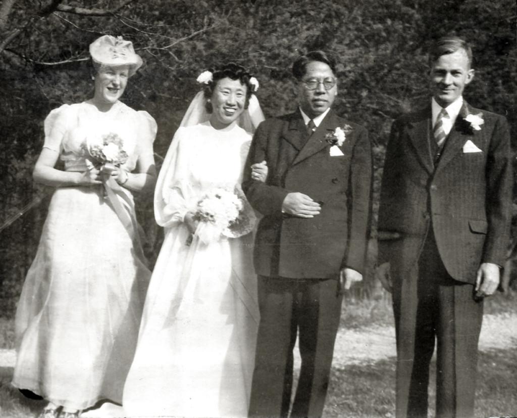 Margaret Tucker, Grace Feng Liu, T.C. Liu, Burton Rogers. March 9, 1945. nace_1_068a.jpg