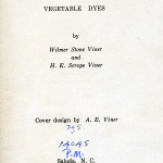 The Katherine Pettit Book of Vegetable Dyes.