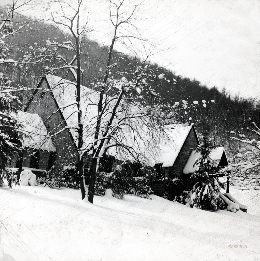 Chapel in the snow.