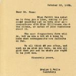 Dr. GRACE HUSE Correspondence