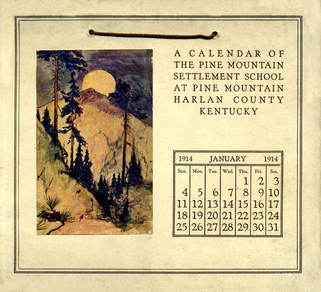 1914 Calendar. January