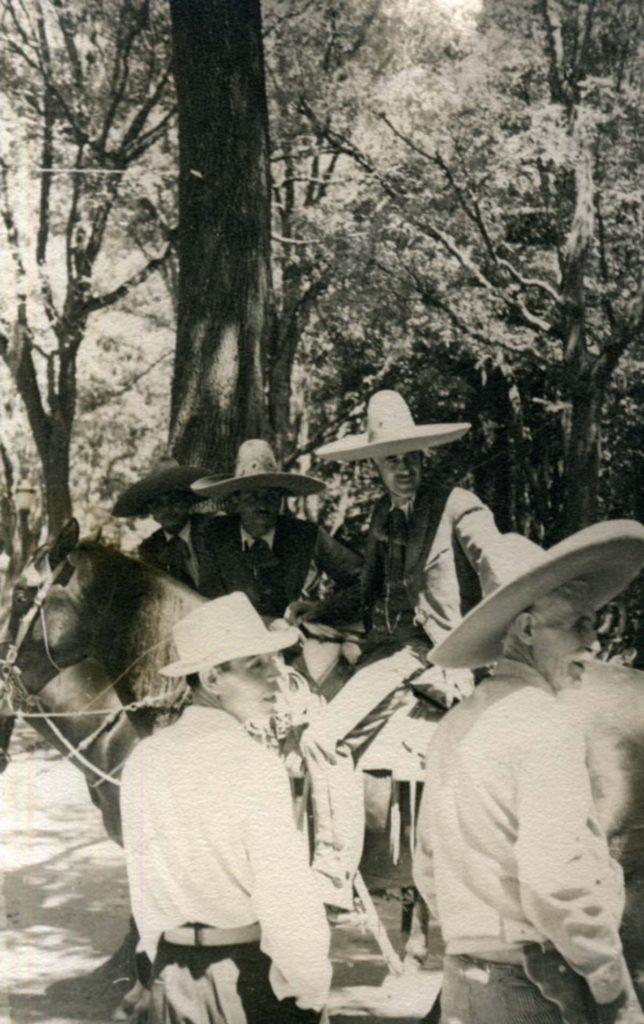 """1936_mexico_040. """"Charros - Mexico City Park."""" [Chapultepec Park]"""