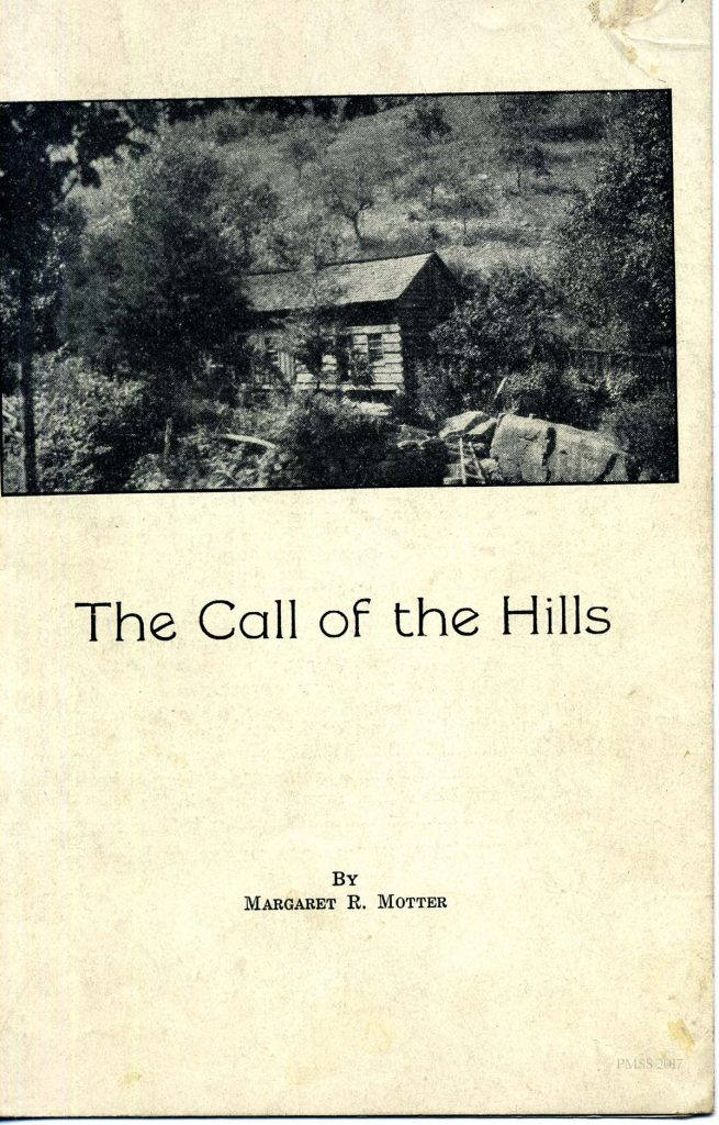 MARGARET MOTTER Play 1938 The Call of the Hills