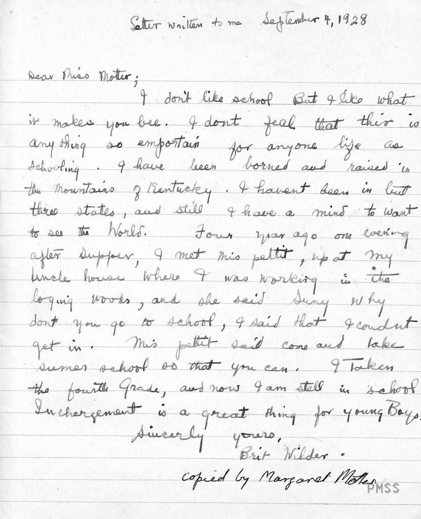 EDUCATION Children's Writing (01, 05) Brit Wilder