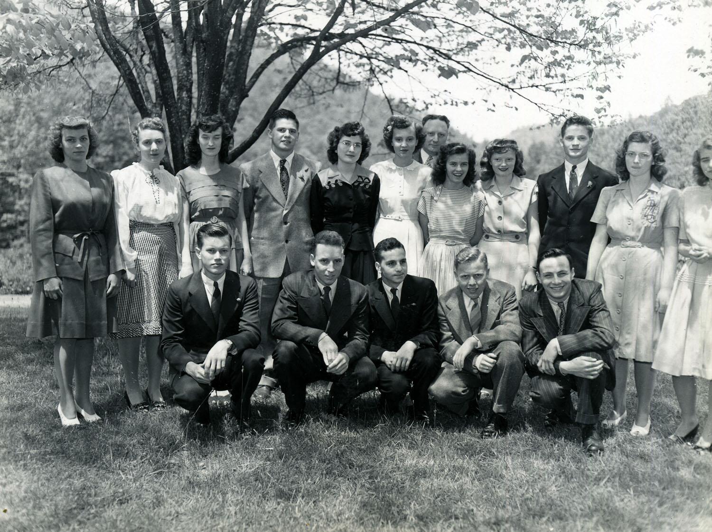 PMSS Graduation Class of 1946 including Billy Tye.