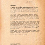 MARY ROCKWELL HOOKCorrespondence 1920