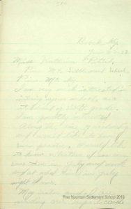William Brown's handwritten letter to Miss Pettit, June 25, 1928.