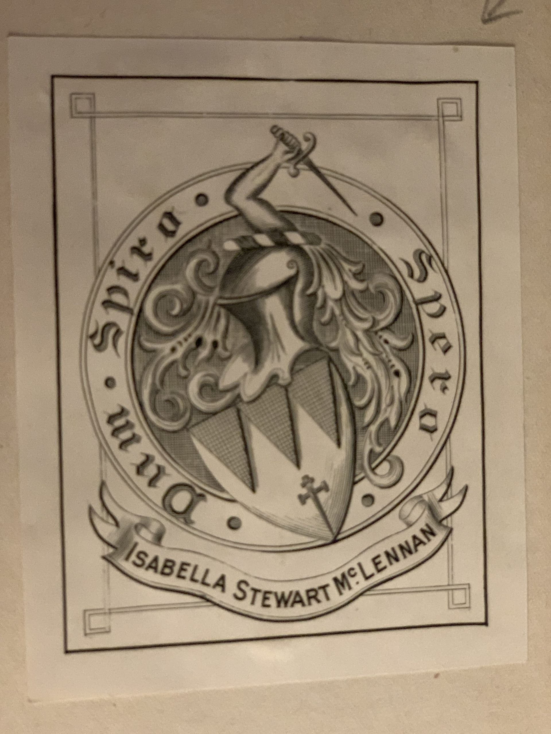 Bookplate of Isabella McLennan McMeekin