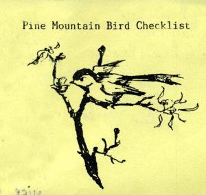 Pine Mountain Bird Checklist