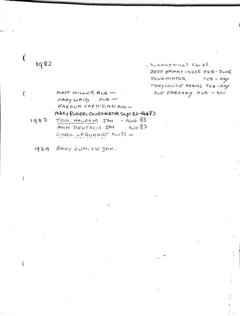 list of EE names