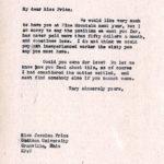 Jessica Price Correspondence