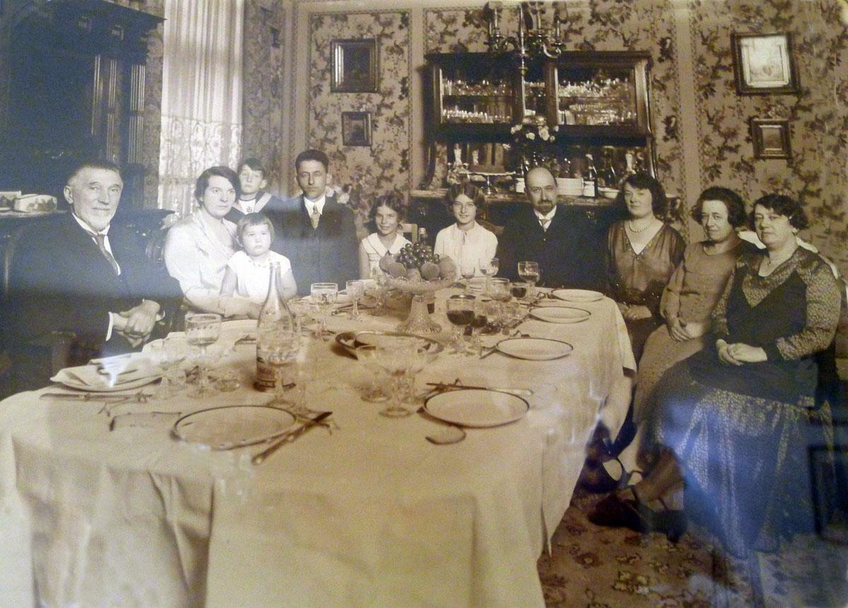 Deschamps family at home in Belgium.