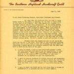 Letter to guild members from the secretary-treasurer
