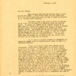 DARWIN D. MARTIN 1924 Correspondence